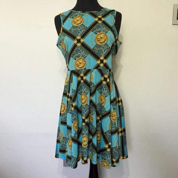 Kardashian Kollection Dresses & Skirts - Kardashian Kollection leopard pattern blue dress